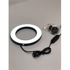 Кільцева світлодіодна LED лампа Professional Live Stream 16 см з тримачем для телефону PLS-16