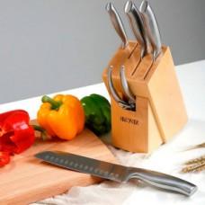Ножи Xiaomi металлические 5 штук на деревянной подставке Huo hou hu0014