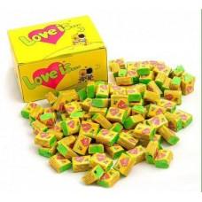 Блок жвачек Love is 100 штук жевательная резинка из прошлого вкус Кокос-Ананас