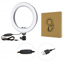 Кольцевая светодиодная Led Лампа 20 см с зажимом для телефона