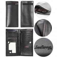 Клатч Baellerry 615 черный кожаный кошелек портмоне сумка