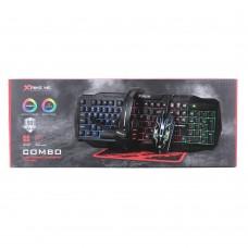 Игровой набор комплект CM-406 4 в 1 клавиатура наушники мышь ковер