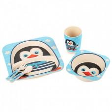 Детская бамбуковая посуда Пингвинчик набор из 3 предметов BP5
