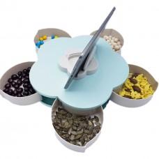Коробка-органайзер для закусок на 5 отсеков (для снеков, сладостей, орехов) Snack Box Flower