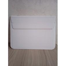 Кейс папка шкіряна для MacBook 13.3 біла