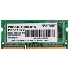 DDR3 Patriot SL 4GB 1600MHz CL11 1.35V SODIMM