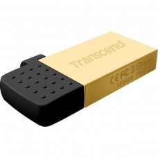 USB 2.0 Transcend JetFlash 380 MicroUSB OTG 16Gb Gold metal