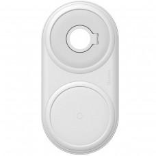 Бездротовий зарядний пристрій Baseus Planet 2in1 cable winder+wireless charger(EU) White