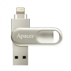 Флеш-накопичувач Apacer USB3.1 + Lightning AH790 32GB for Apple Silver 64