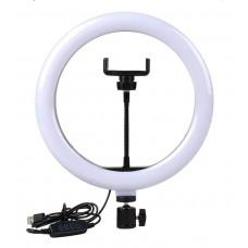 Кільцева лампа для блогерів 26 см з тримачем для телефону 26 см