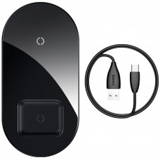 Бездротовий зарядний пристрій Baseus Simple 2in1Pro Edition Black