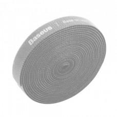 Лента липучка Baseus 3 метра органайзер Colourful Circle Velcro strap 3m серая