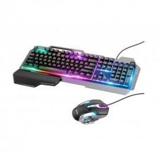 Клавиатура и мышь Hoco GM12 Light and shadow RGB gaming русская