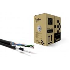 Бухта кабеля КНПЭт Ftp 4*2*0.5 Cca экранированный для наружных работ с тросом 7*0.38 305м