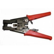 Инструмент для закрепления на кабеле компрессионных разъемов серий F. Bnc и Rca