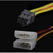 Кабель Fast переходник питания 6-pin для PCI-E Видеокарт P6