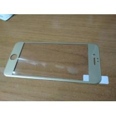 3D Стекло для дисплея iPhone 6 6s с мягкими краями гибкой рамкой золотое