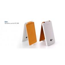 Флип чехол Hoco Duke flip leather case for Htc One, white HT-L006