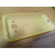 Силиконовый чехол бампер на заднюю крышку Samsung G360 / G361 желтая