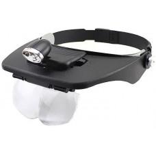 Бинокулярная лупа с Led подсветкой 1.2X-6X увеличения Magnifier 81001-A