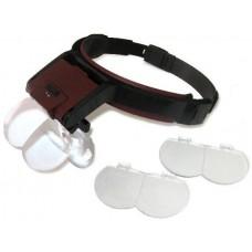 Бинокулярная лупа с Led подсветкой 1.7X, 2X, 2.5X, 4.5X увеличения Magnifier 81001-B