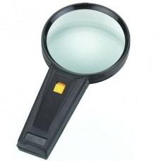 Лупа ручная круглая с подсветкой, 2,5Х, диам-90мм, Magnifier 82015
