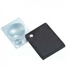 Лупа ручная карманная 3x увеличение диам. 45мм и 8х увеличение диам. 18мм Magnifier 85031