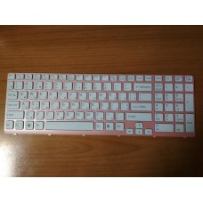 Клавиатура Sony Vaio SVE15 SVE17 (E15 E17 Series) белая