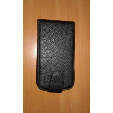 Чехол-флип для Lenovo A706 черный с силиконовым креплением