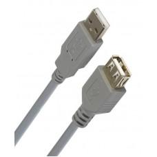 Удлинитель USB (штекер A - гнездо А) version 2.0 1,8метра серый