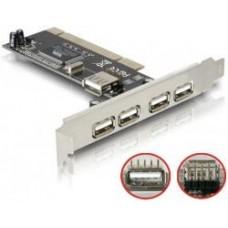 Контролер PCI-USB 4 + 1 port Nec chipset