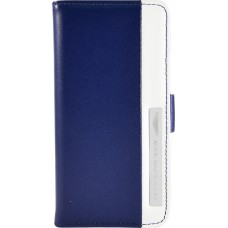 Чехол-книжка Aston Martin iPhone 5C stripe metal logo blue/white SMBKIPH5CC062