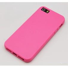 Чехол-накладка для iPhone 5c силиконовый розовый