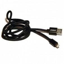 2-метровый кабель iMAX Usb cable lightning 3.0 black 2 m