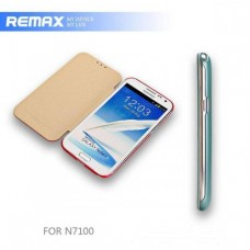 Чехол-книжка Samsung N7100 Galaxy Note II Remax Design Ice Cream розовая