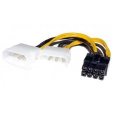 Кабель 8 pin to 2molex Video power переходник питания видеокарты