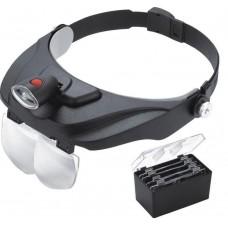 Бинокулярные монтажные очки Magnifier 81001-F лупа с подсветкой