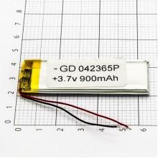 Polymer battery 23654 1000mAh