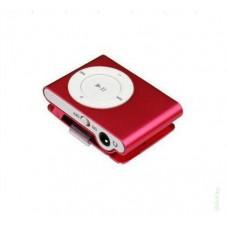 MP3 плеер металлический Slim красный + наушники в комплекте