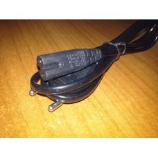 Шнур сетевой кабель питания 2*0,75 мм 3 метра чёрный