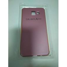 Чехол накладка Samsung A510 A5-2016 панель бампер розово золотой