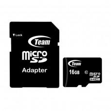 Team MicroSDHC Class 10 16GB + SD-adapter (TUSDH16GCL1003)